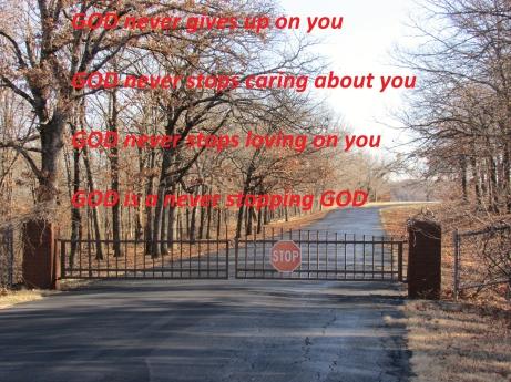 GOD Never Stops