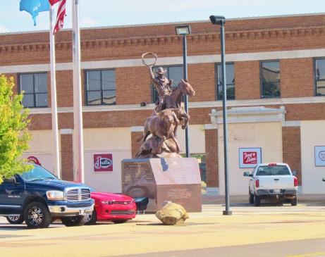 Statue outside Oklahoma City Stockyards