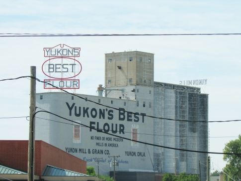 Yukon Flour Mill on Route 66 in Yukon